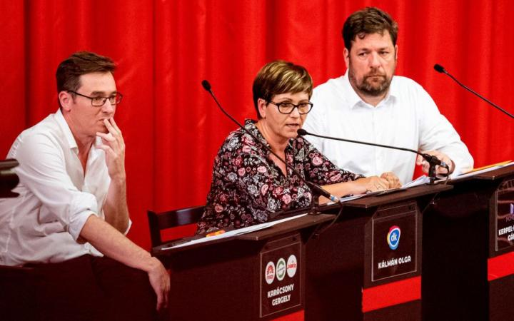 Főpolgármester-jelöltek vitája: Karácsony Gergely, Kálmán Olga, Kerpel-Fronius Gábor [forrás: 24.hu]]